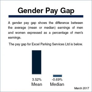 gender pay gap graph showing the median and mean
